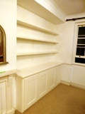 Strand-WC2 fitted MDF floating shelves