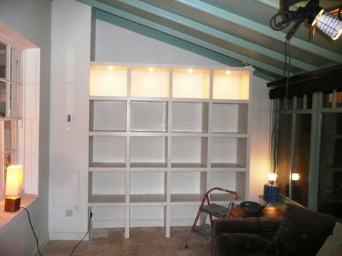 custom house shelves